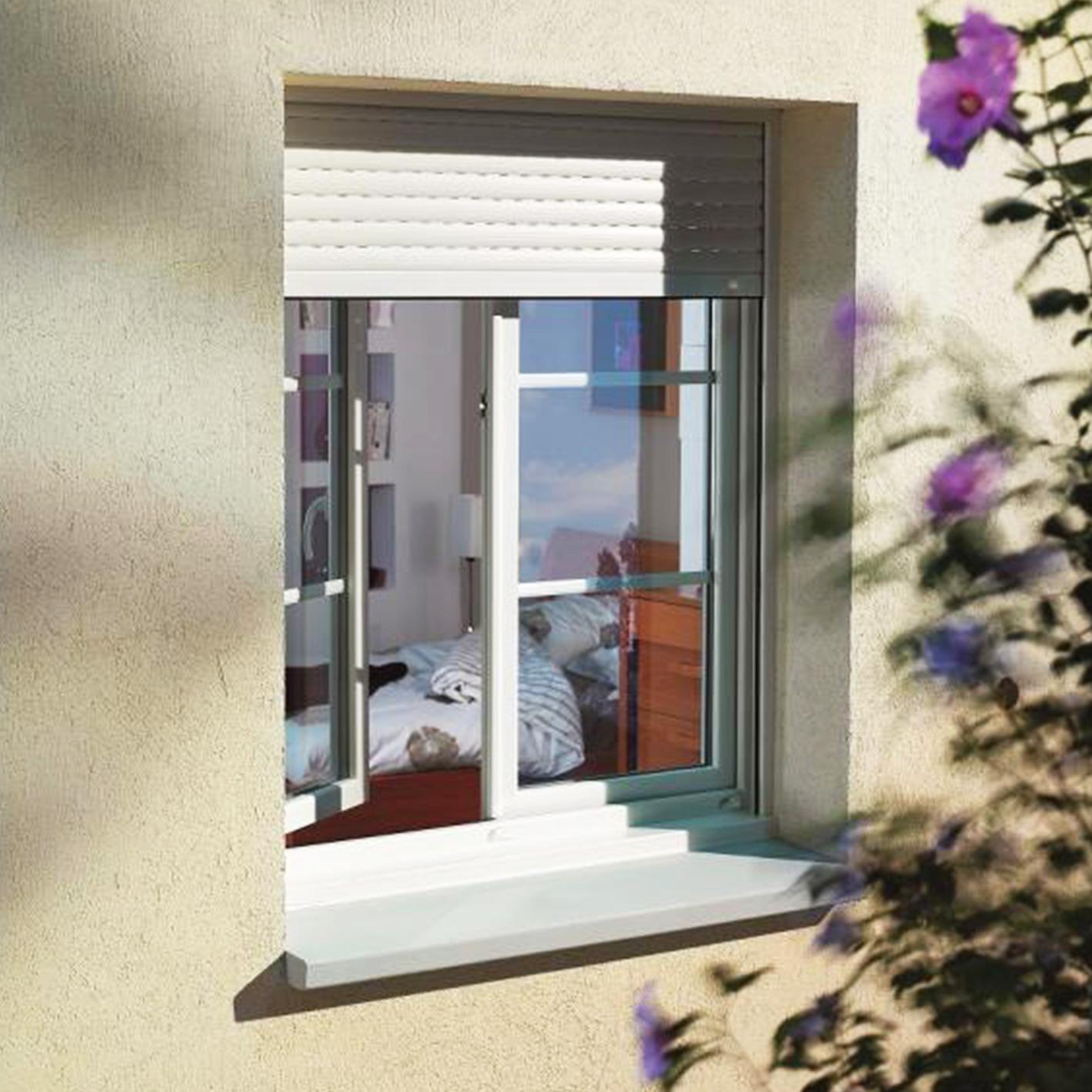 photo fenêtre PVC avec volet roulant
