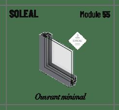 Profilé soleal module 55, ouvrant apparent