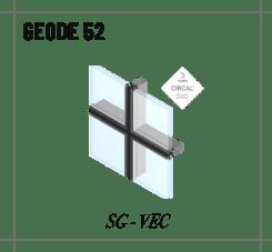 Profilé geode 52 Vitrage structurel à clamer ou Verre extérieur collé (VEC)
