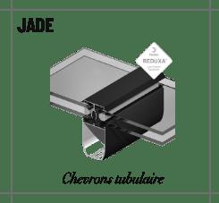 Profilé jade chevrons tubulaire