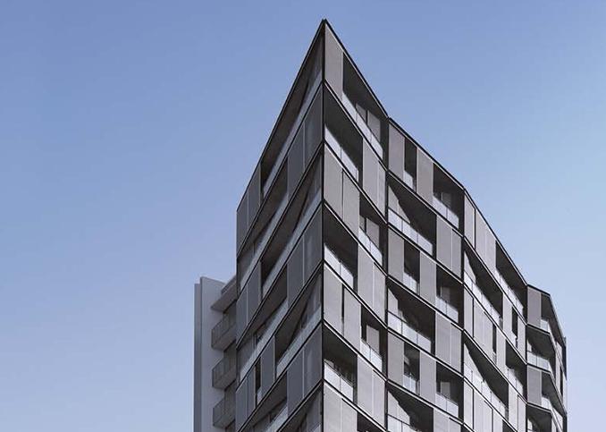 Photo immeuble équipé de panneaux d'occultations