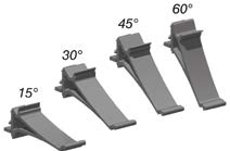 orientabilité en 15, 30, 45, ou 60 degrès
