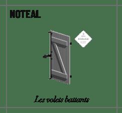 Profile noteal volet battant
