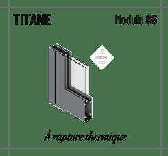 Profilé Titane, rupture thermique