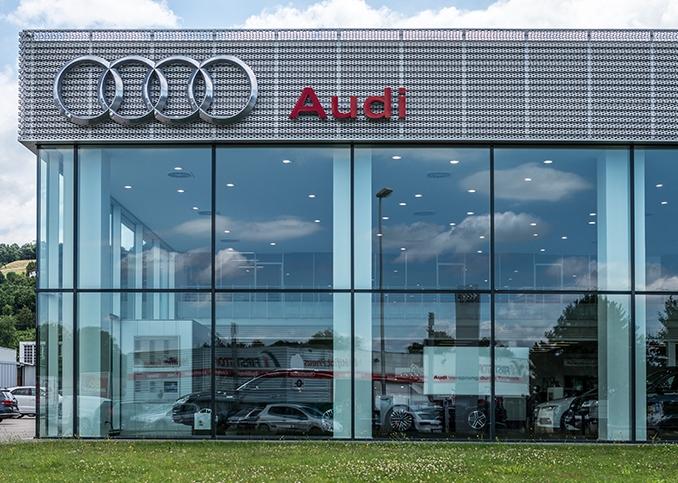 Photo du mur rideau d'Audi à Bourgoin Jallieu